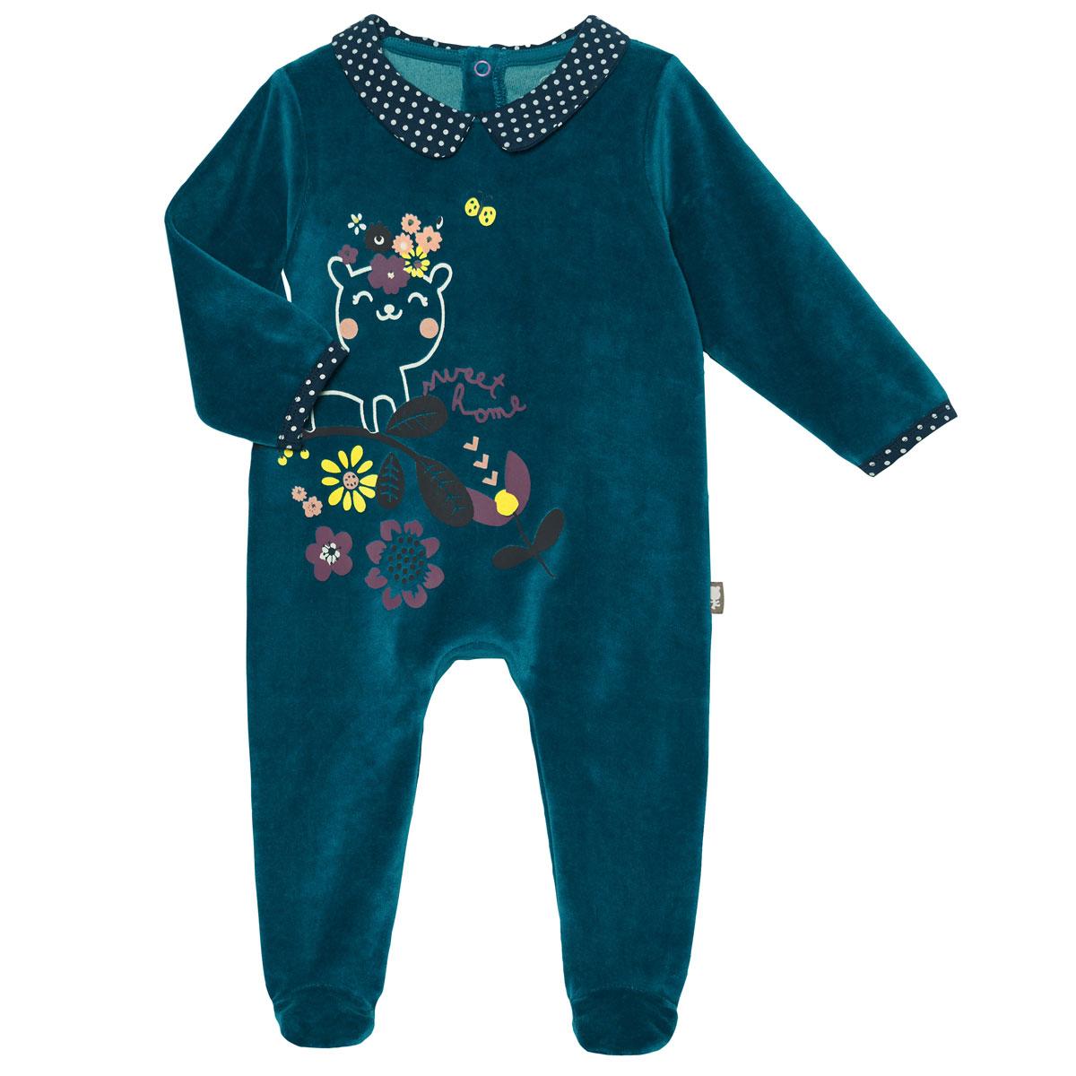 Pyjama bébé velours Little Sweet