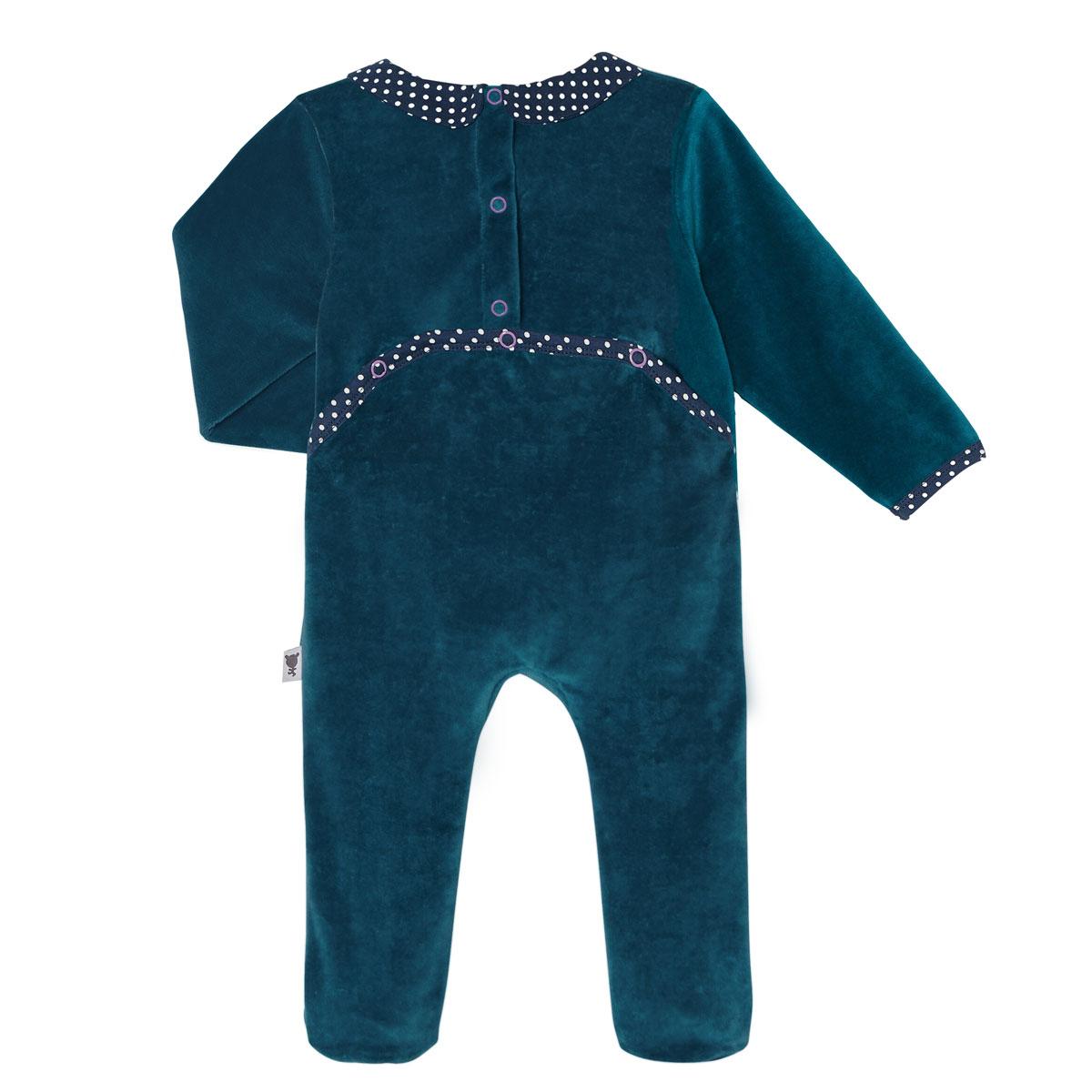 Pyjama bébé velours Little Sweet dos