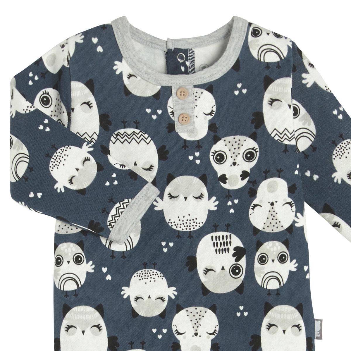 Pyjama bébé en molleton Zibou zoom