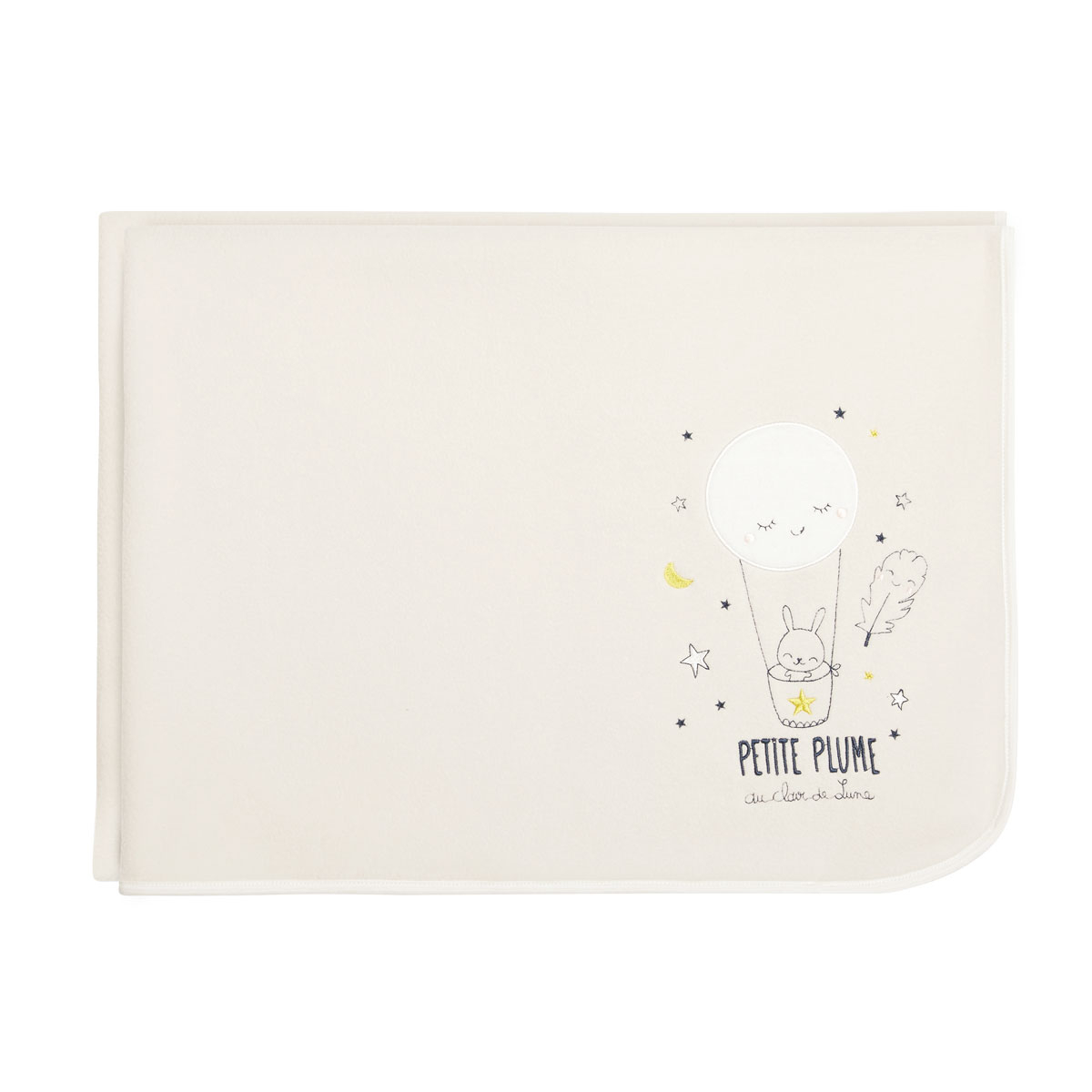 Couverture polaire bébé mixte Petite Plume 75 x 100 cm