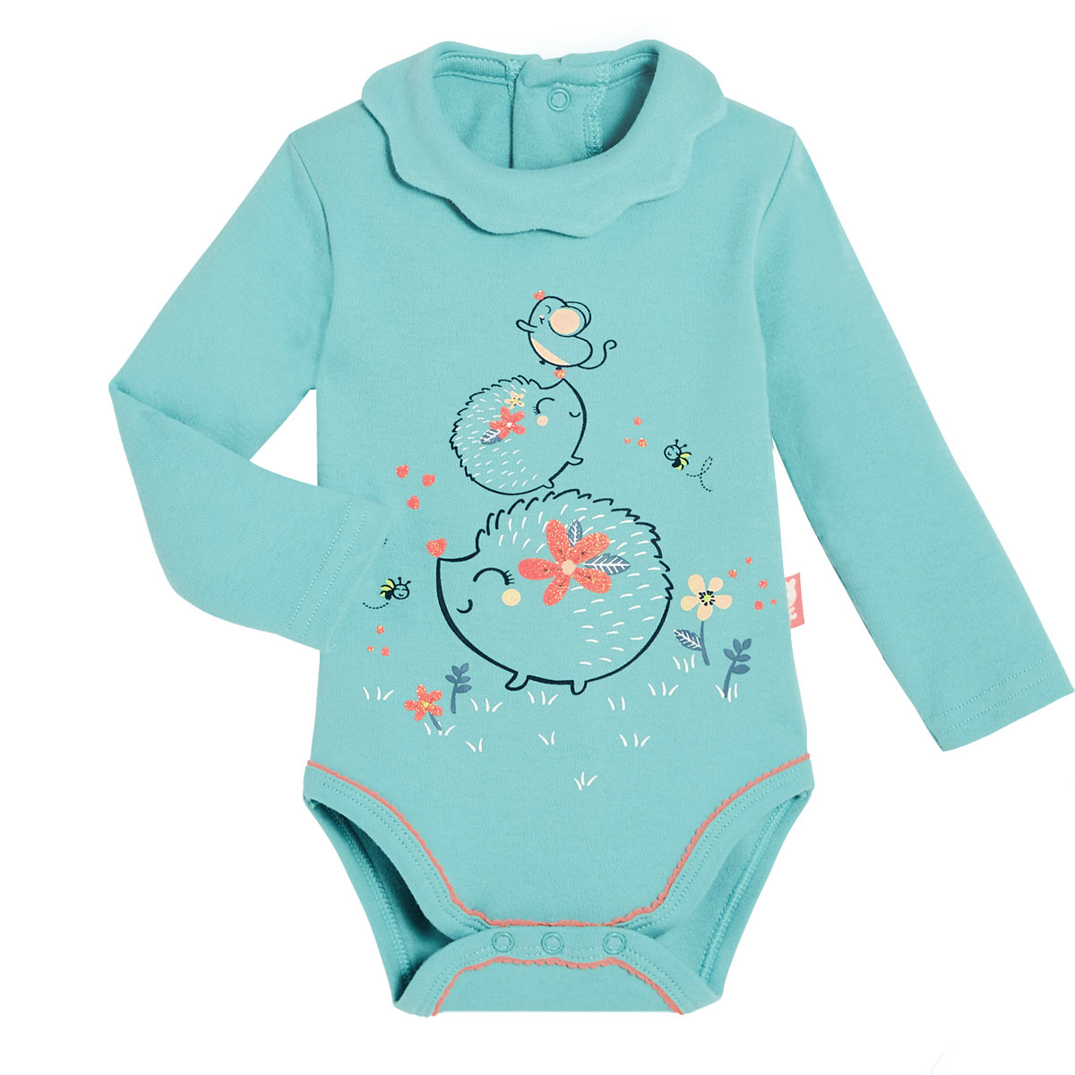 Lot de 2 bodies bébé fille manches longues Frimousse bleu
