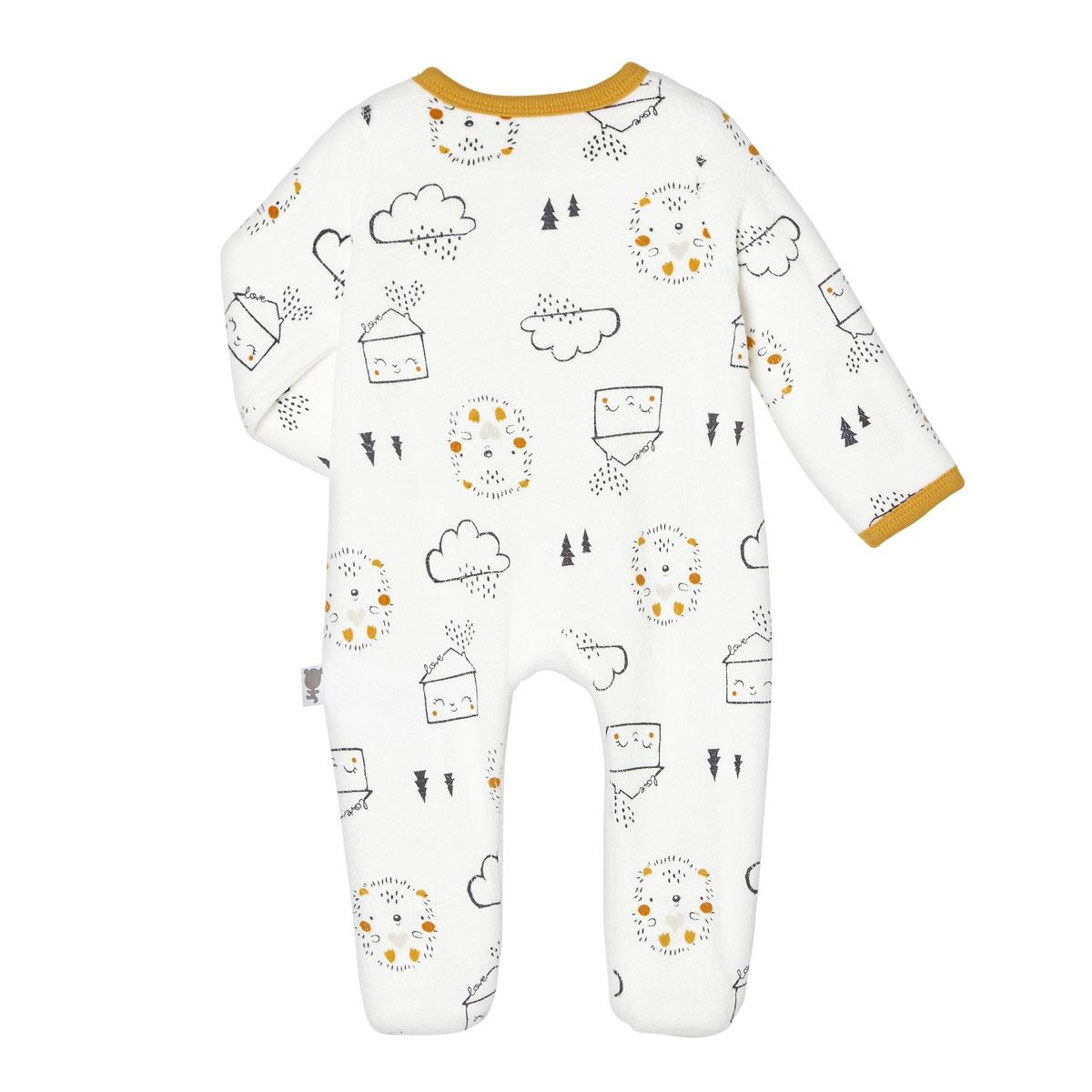 Pyjama bébé mixte velours Love Baby dos