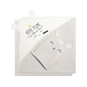 Cape et gant de bain bébé mixte Petite Plume