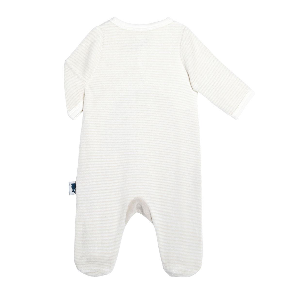 Pyjama bébé velours mixte Petite Plume dos