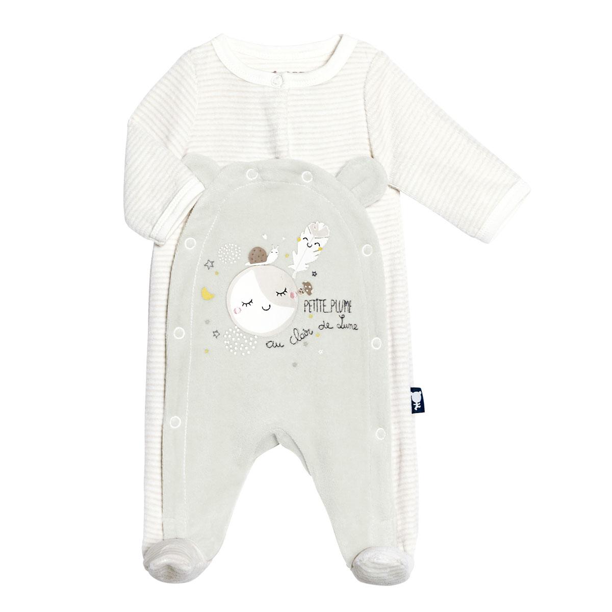 Pyjama bébé velours mixte Petite Plume