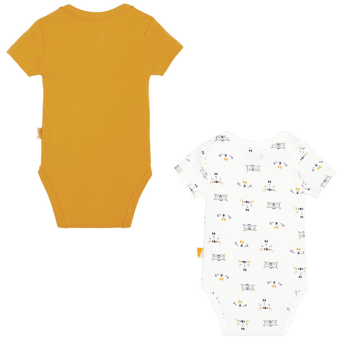 Lot de 2 bodies bébé garçon manches courtes Paprika dos