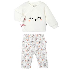Ensemble gilet croisé et pantalon bébé fille Pandicorne