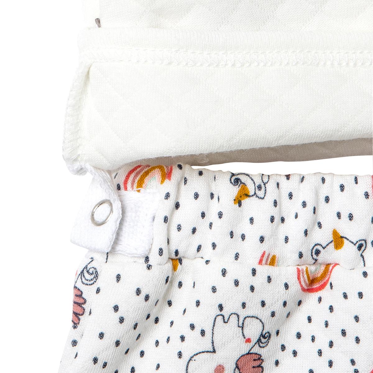Ensemble gilet croisé et pantalon bébé fille Pandicorne attache