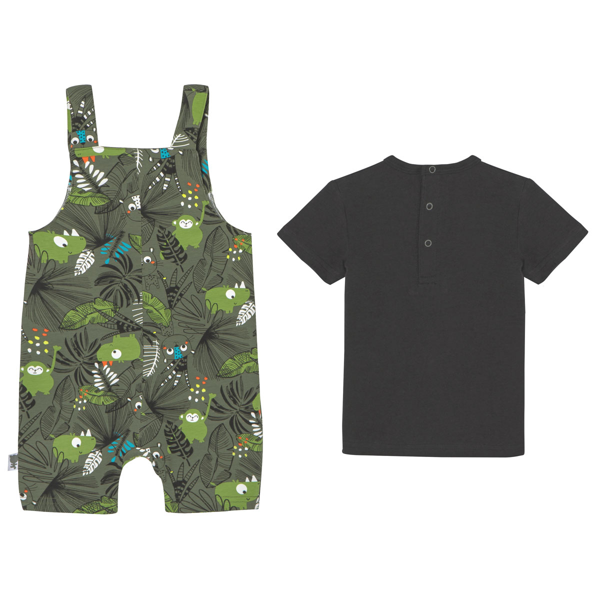 Salopette + T-shirt bébé garçon Rafiki dos