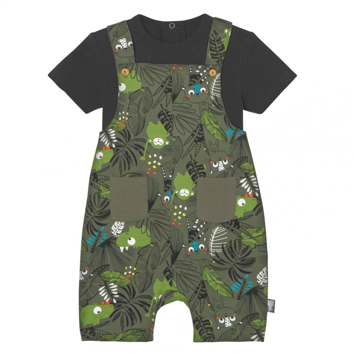 Salopette + T-shirt bébé garçon Rafiki