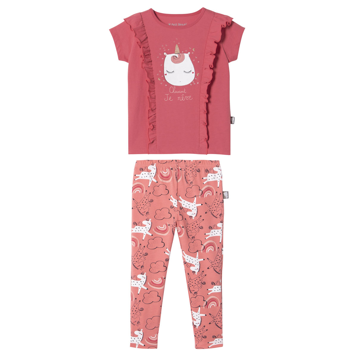 Pyjama fille manches courtes Petits Rêves