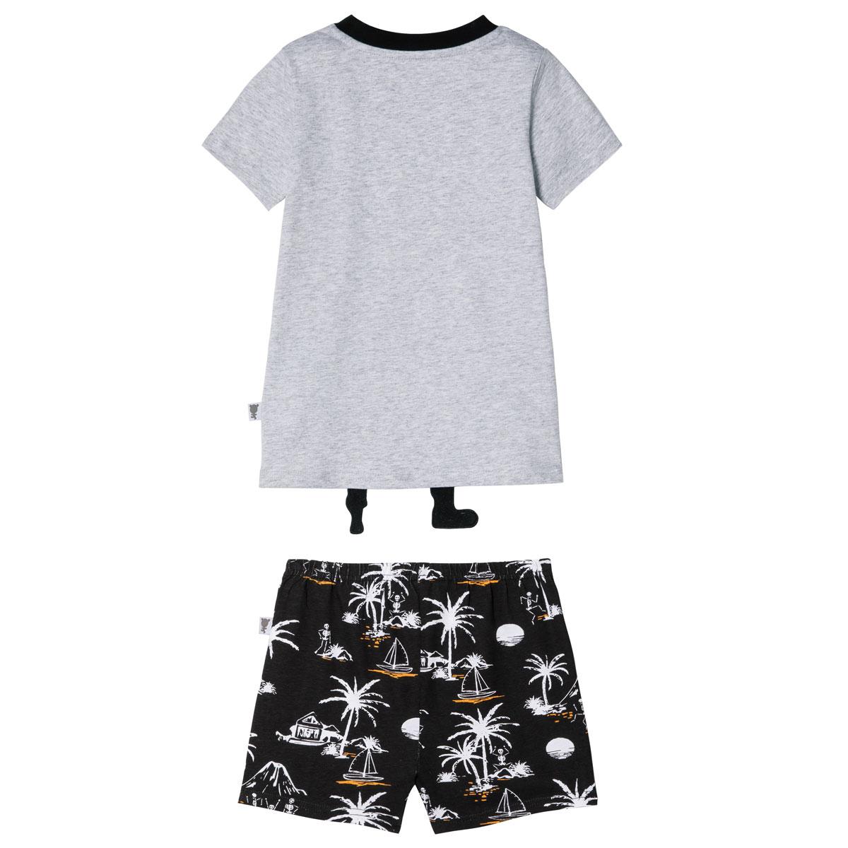 Pyjama garçon manches courtes Explorateur dos