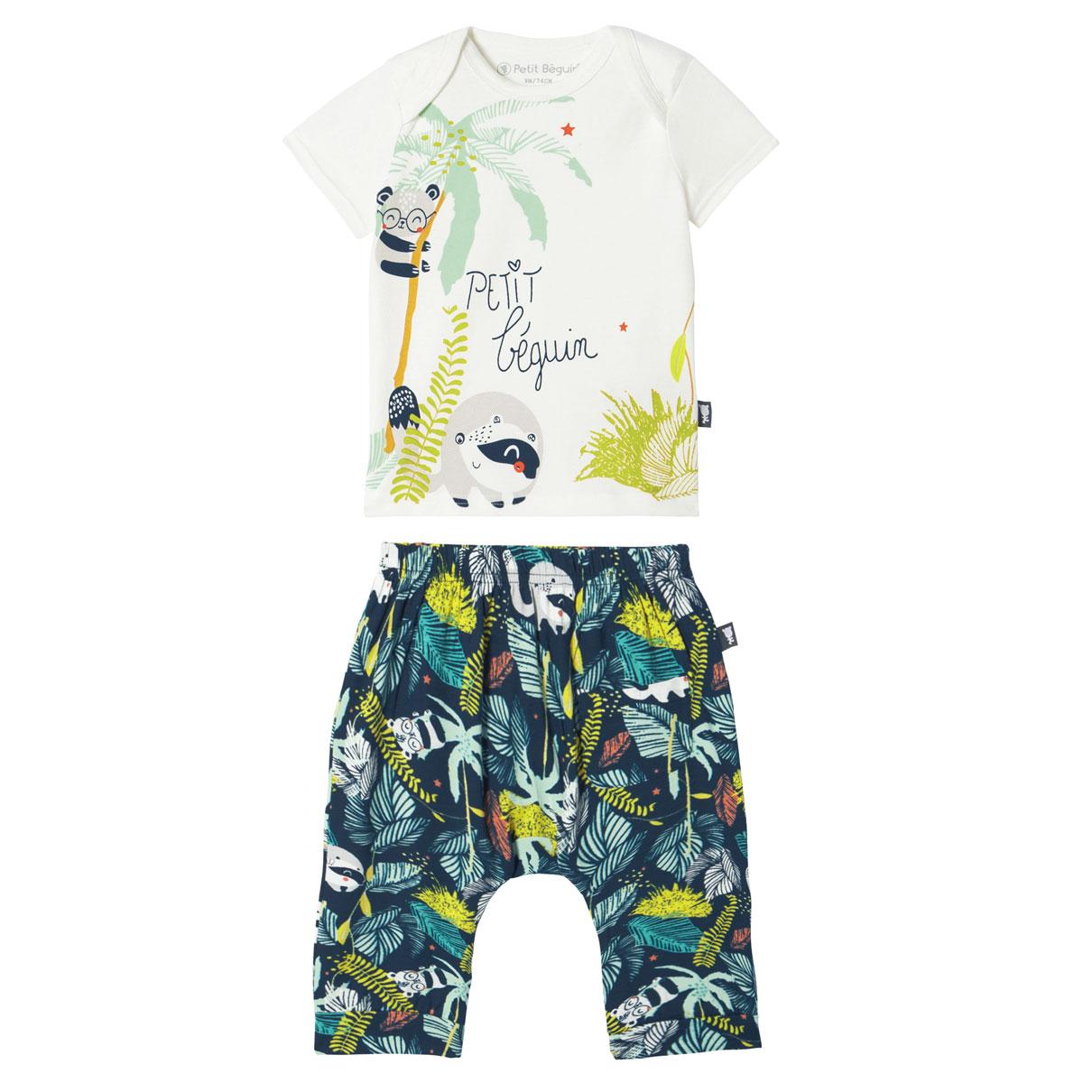 Ensemble bébé garçon t-shirt + sarouel Kenya