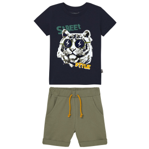 Pyjama garçon manches courtes marine California