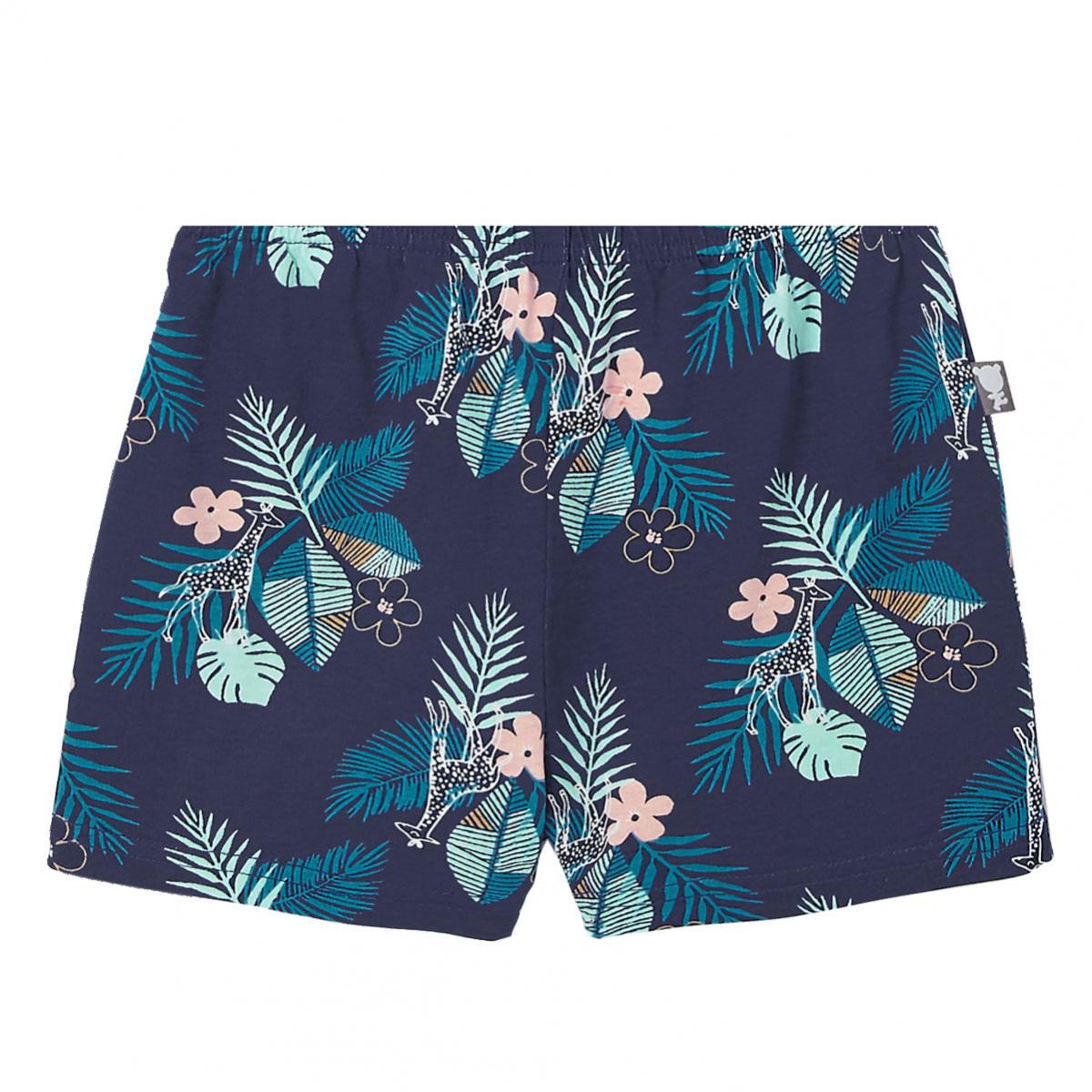 Pyjama fille manches courtes Bleu Nalani bas