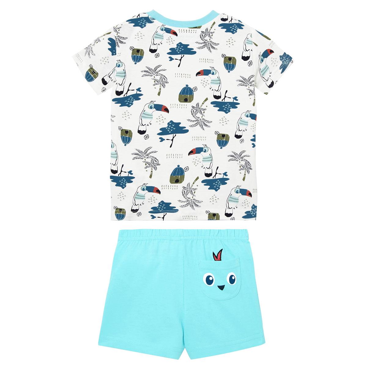 Pyjama garçon manches courtes Bora bora dos