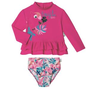 Maillot de bain ANTI-UV bébé fille 2 pièces t-shirt & culotte Brazilia Bird
