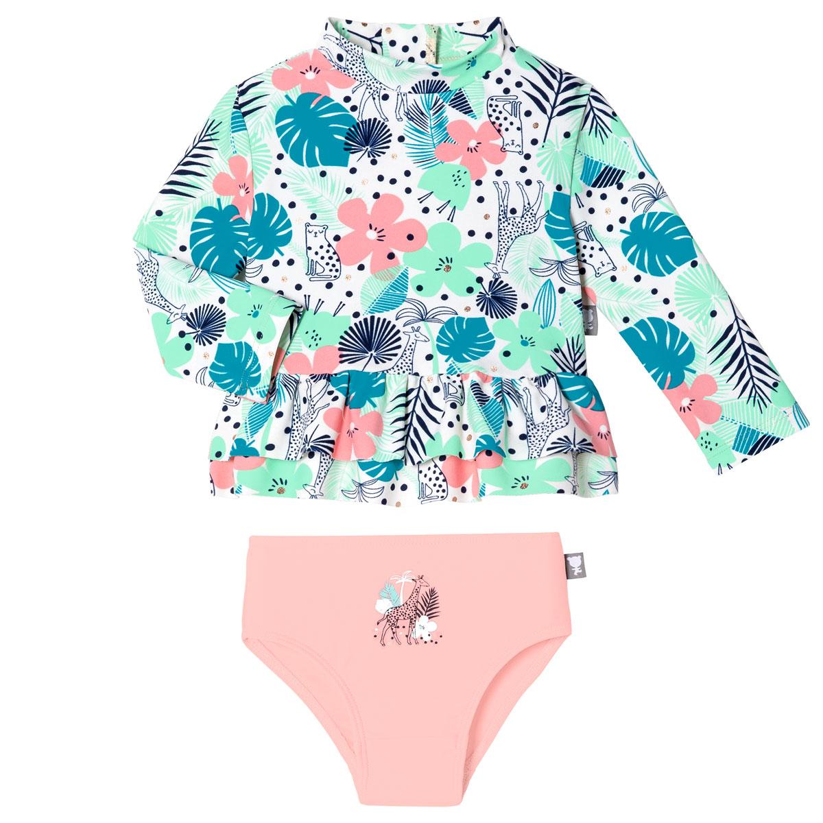 Maillot de bain ANTI-UV bébé fille 2 pièces t-shirt & culotte Nalani