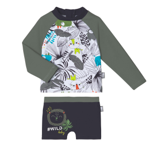 Maillot de bain garçon ANTI-UV 2 pièces t-shirt & boxer Rafiki