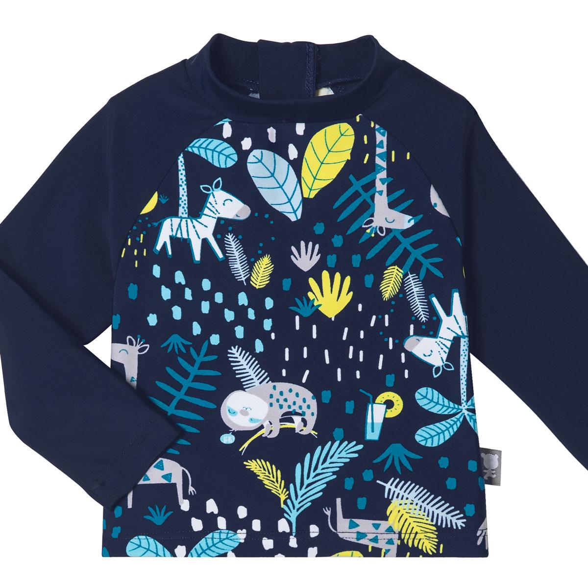 Maillot de bain bébé garçon ANTI-UV 2 pièces t-shirt & boxer Pampa haut