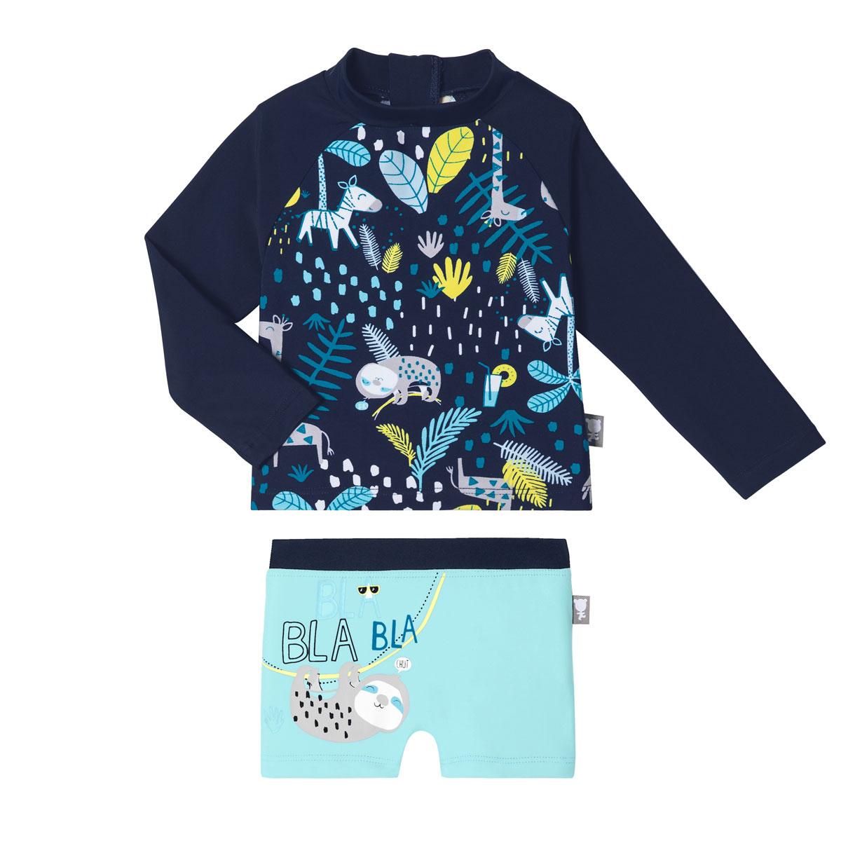 Maillot de bain bébé garçon ANTI-UV 2 pièces t-shirt & boxer Pampa