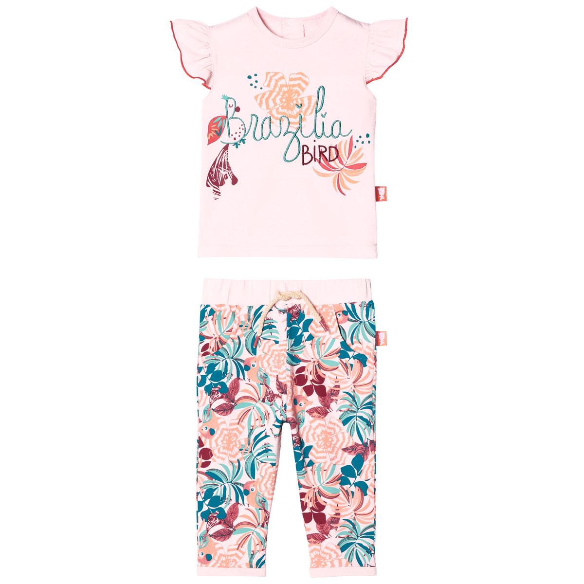 Ensemble bébé fille T-shirt manches courtes + pantalon Brazilia Bird