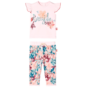 Ensemble bébé fille T-shirt manches courtes + pantalon Brazilia Bird