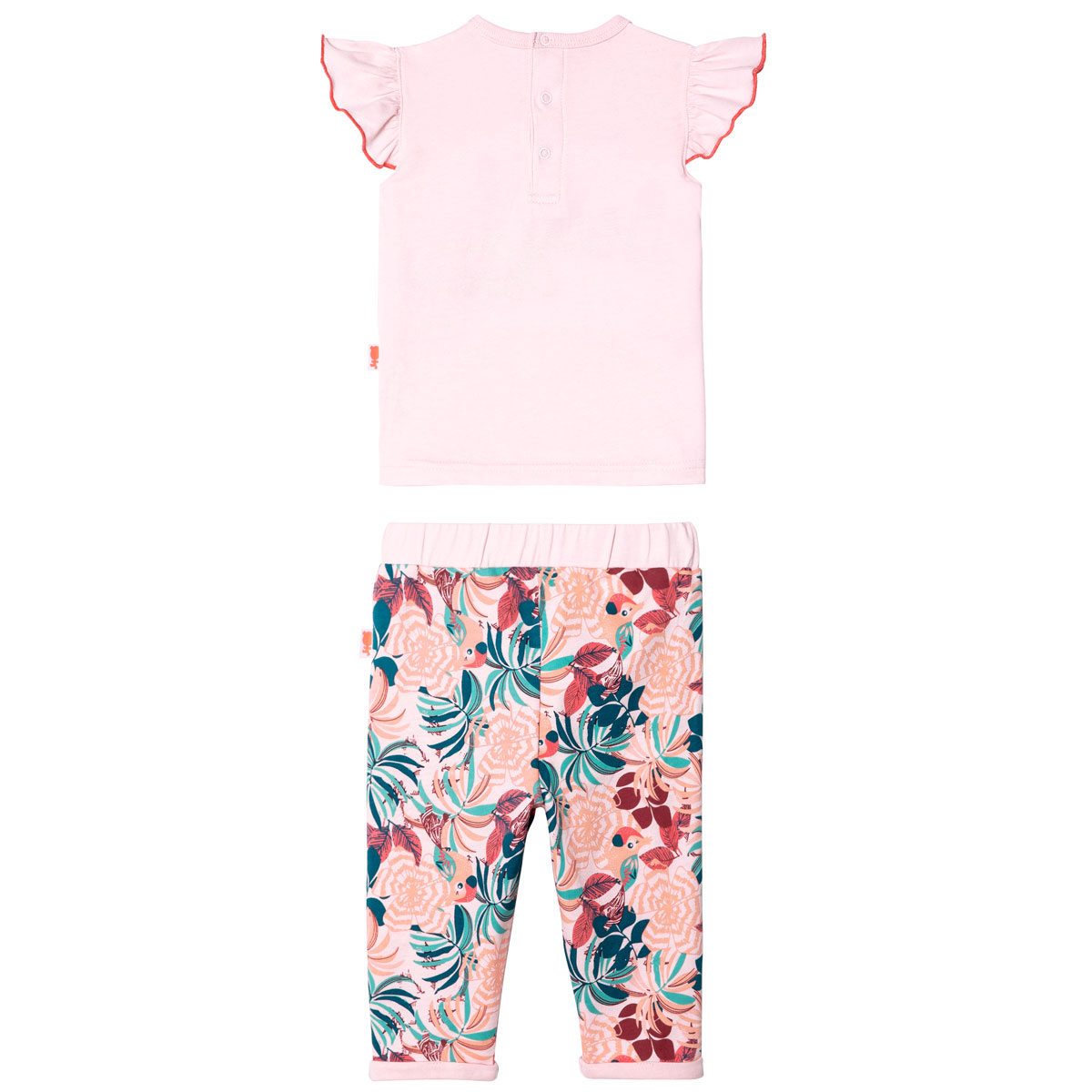 Ensemble bébé fille T-shirt manches courtes + pantalon Brazilia Bird dos