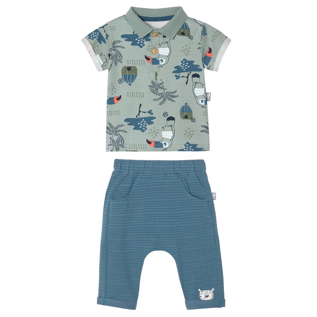 Ensemble bébé garçon chemise + pantalon Bora Bora