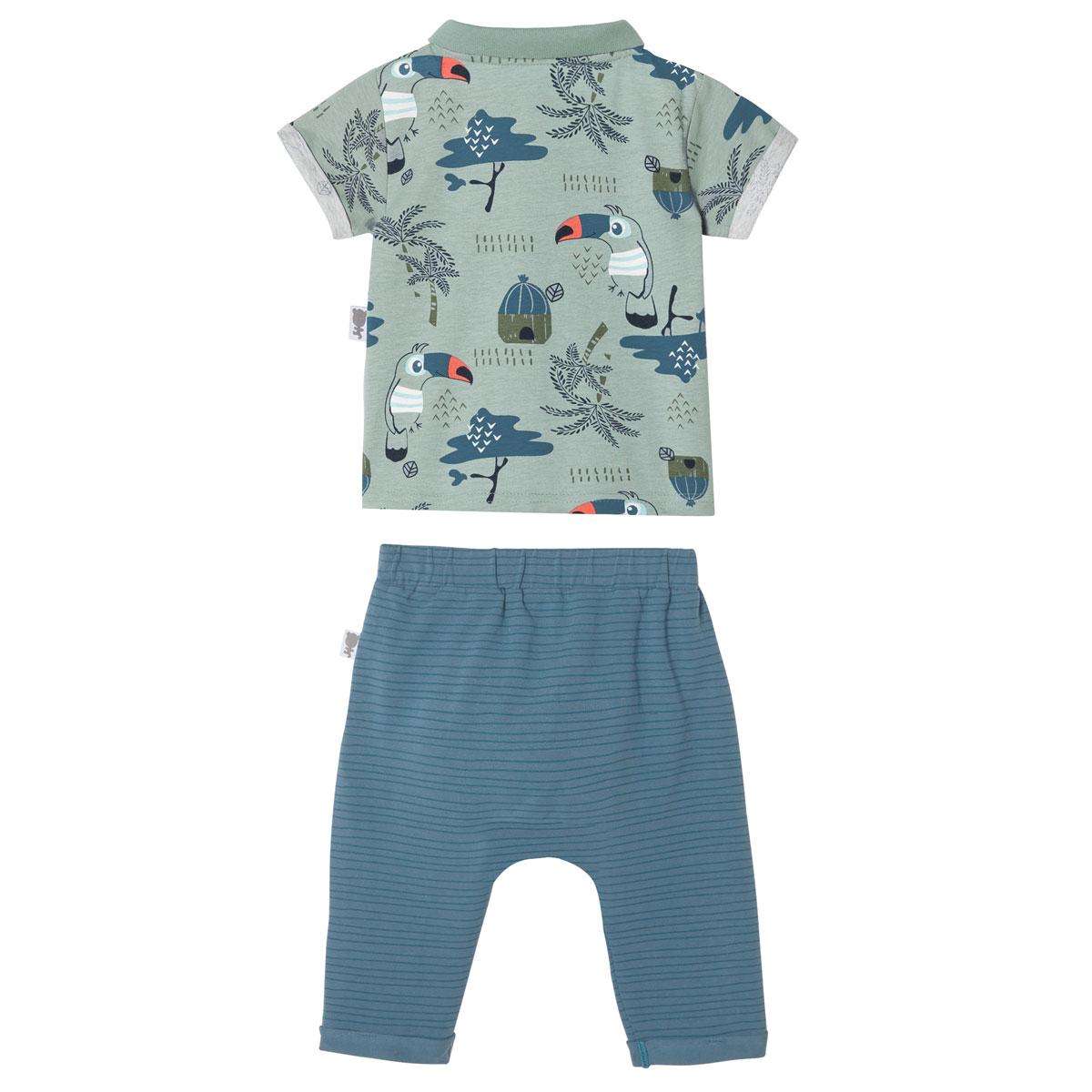 Ensemble bébé garçon chemise + pantalon Bora Bora DOS