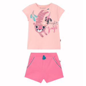 Pyjama fille manches courtes Rose Benghal