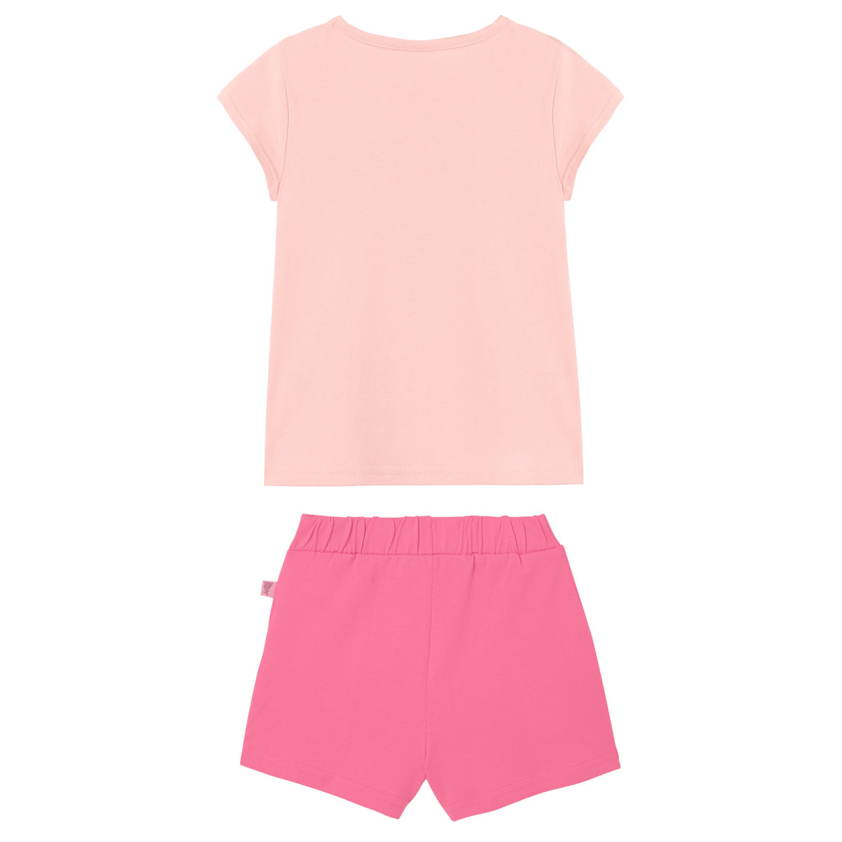 Pyjama fille manches courtes Rose Benghal dos