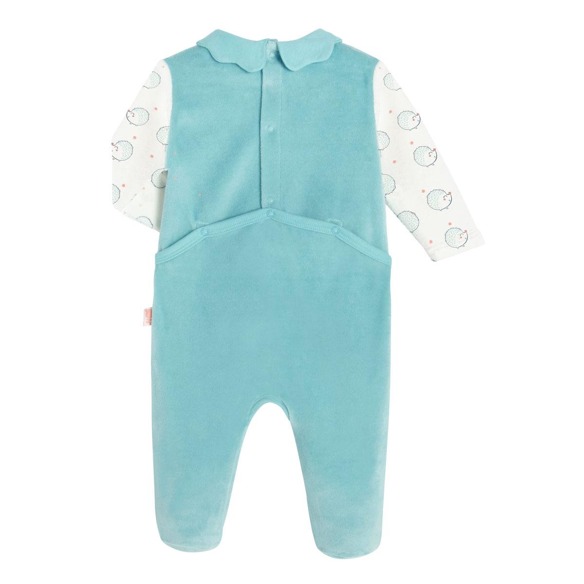 Pyjama bébé velours Frimousse dos