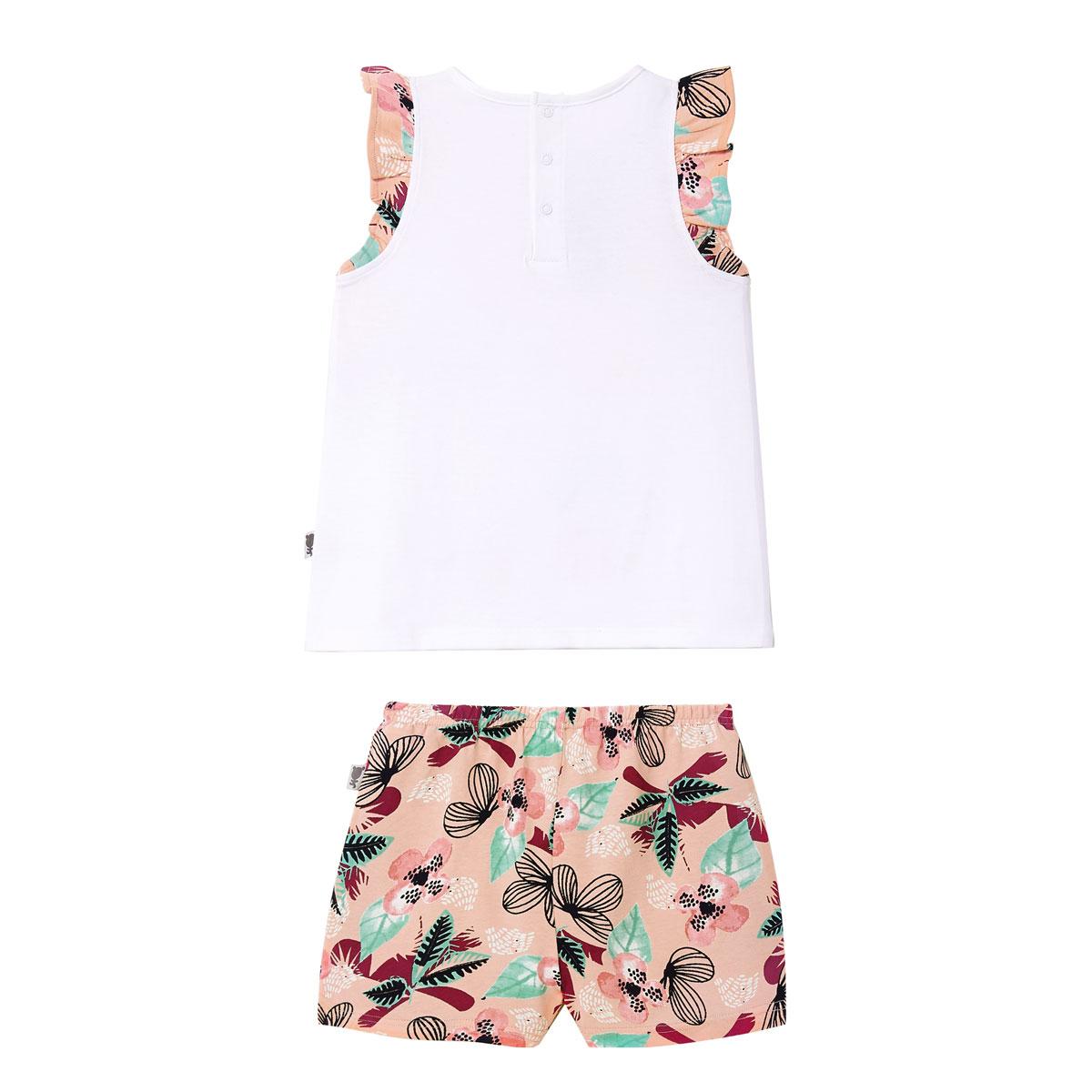 Pyjama fille sans manches blanc Marrakech dos