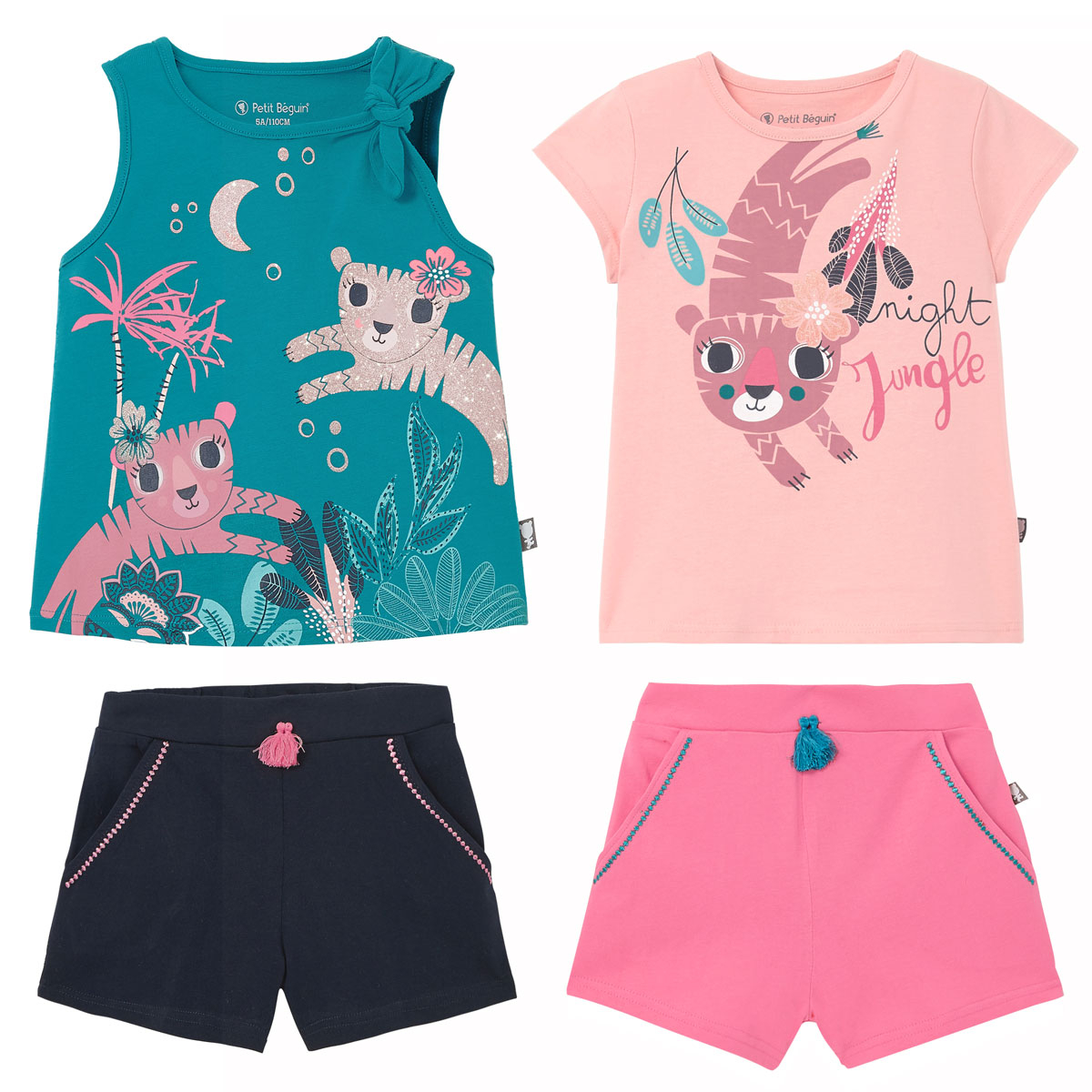 Lot de 2 pyjamas fille Benghal