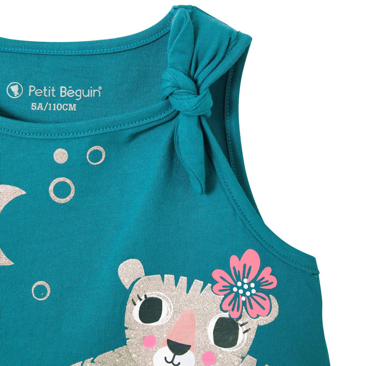 Pyjama fille Benghal bleu zoom