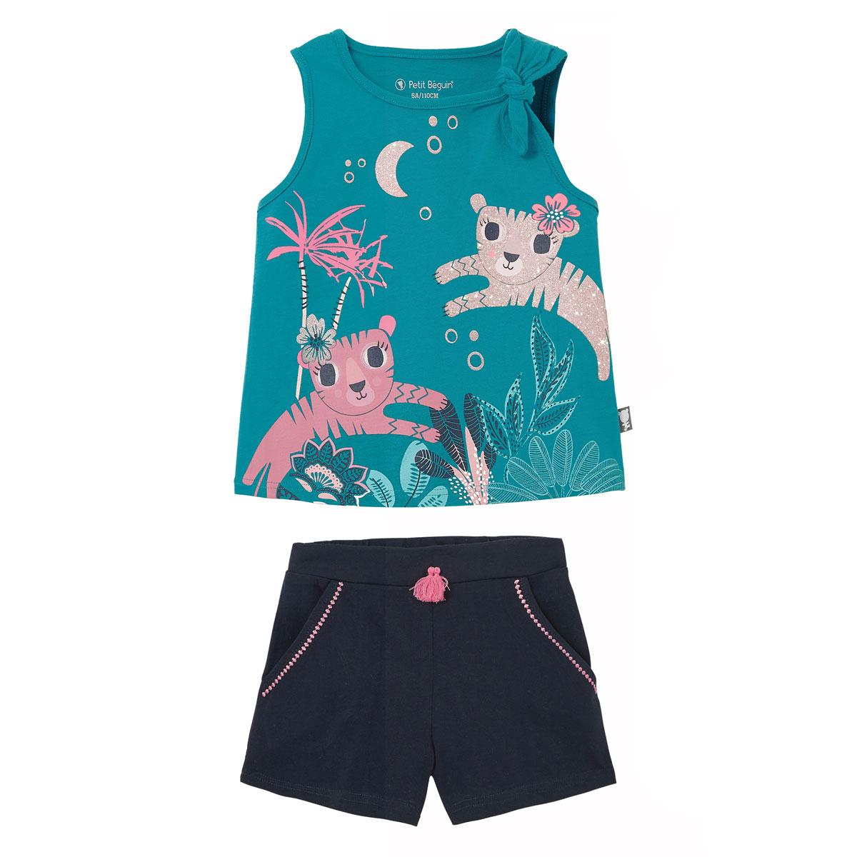 Pyjama fille Benghal bleu
