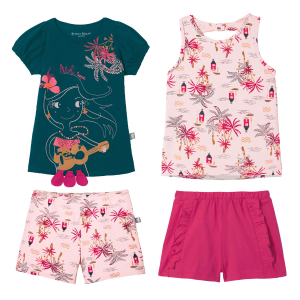 Lot de 2 pyjamas fille Vahiné