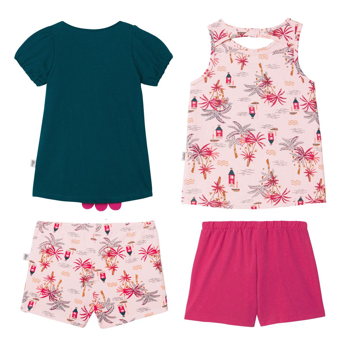 Lot de 2 pyjamas fille Vahiné dos