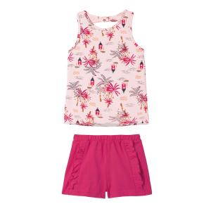 Pyjama fille Rose Vahiné