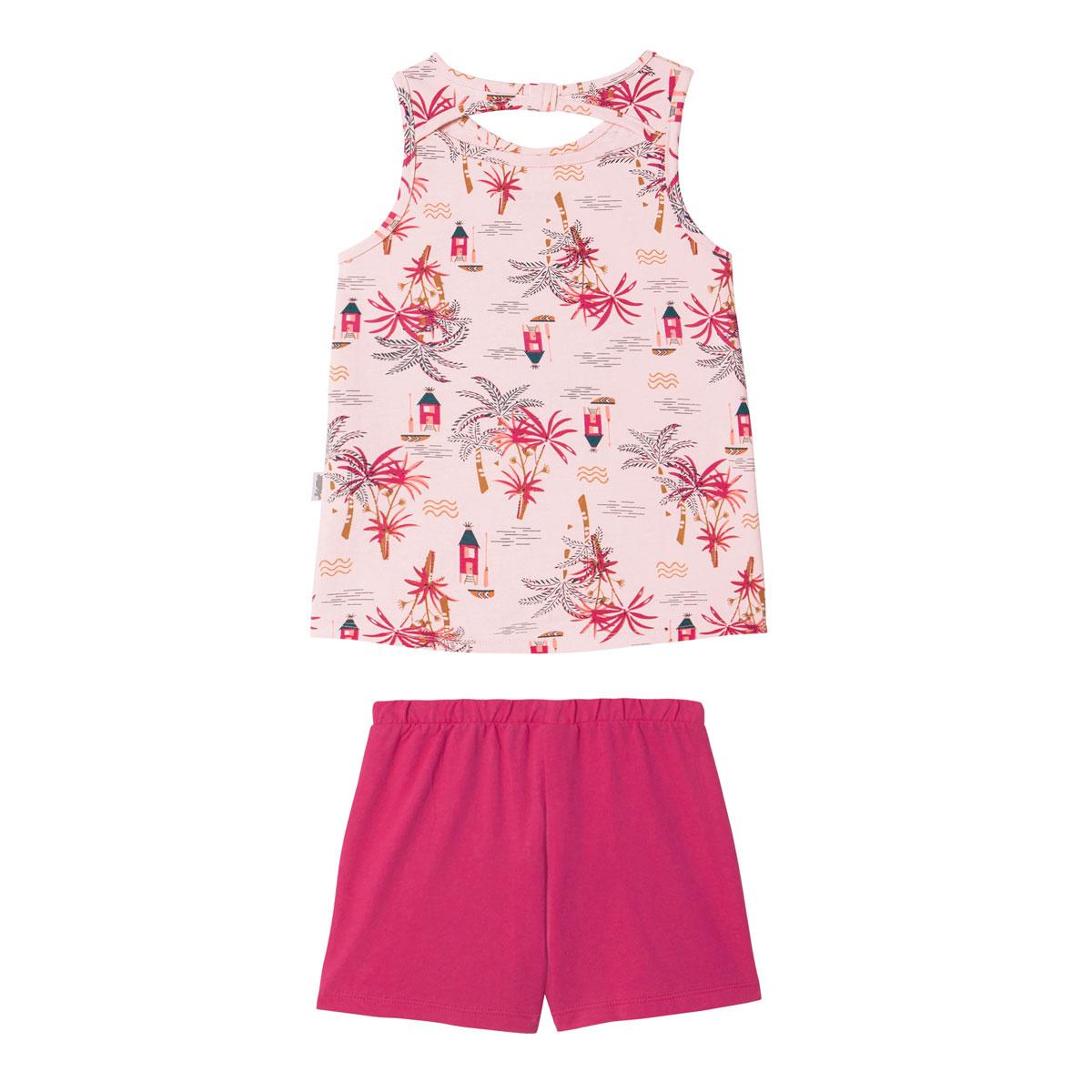 Pyjama fille Rose Vahiné dos