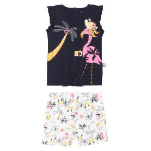 Pyjama fille sans manches marine Miss Koko