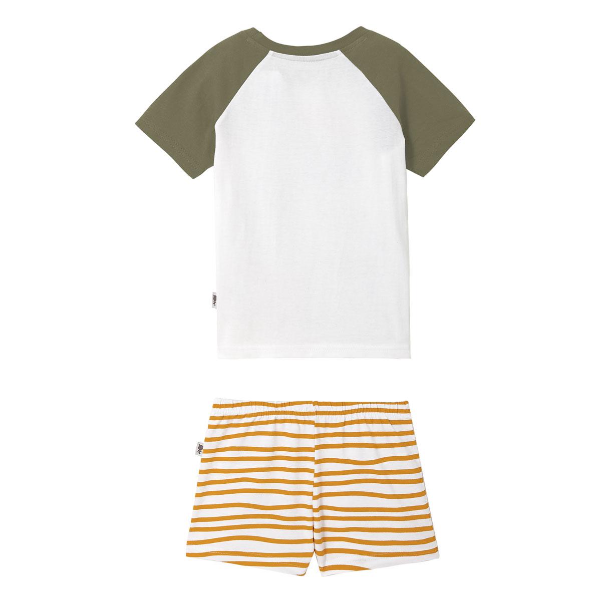 Pyjama garçon manches courtes blanc California dos