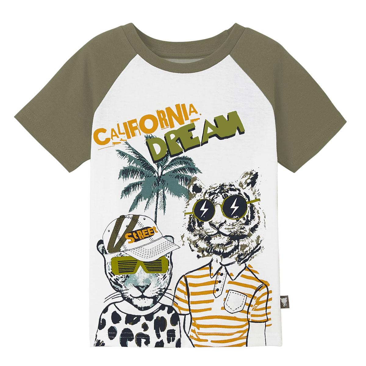 Pyjama garçon manches courtes blanc California haut