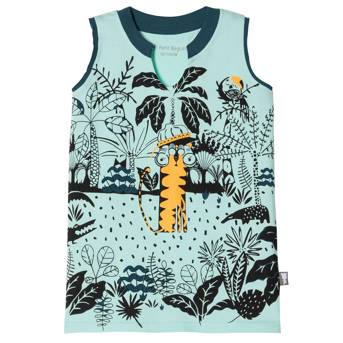 pyjama-debardeur-short-2-pieces-enfant-garcon-explorateur haut