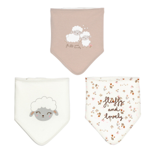 Lot de 3 bavoirs foulards bébé fille Lovely Baby