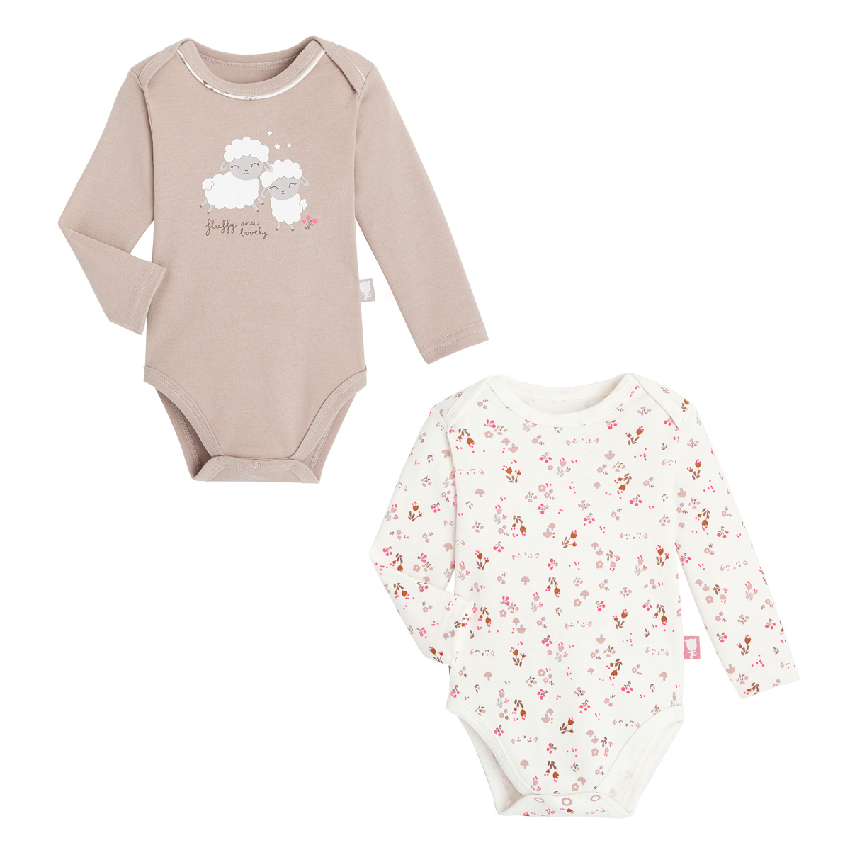 Lot de 2 bodies bébé fille manches longues Lovely Baby