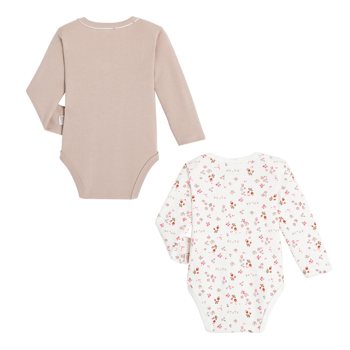 Lot de 2 bodies bébé fille manches longues Lovely Baby dos