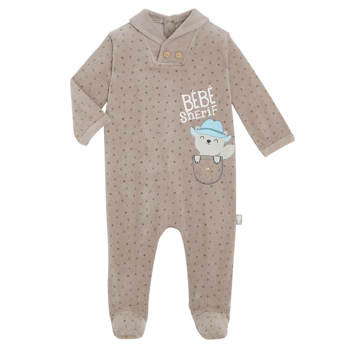 Pyjama bébé velours Little Cowboy
