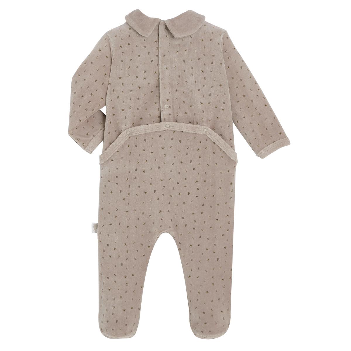 Pyjama bébé velours Little Cowboy dos